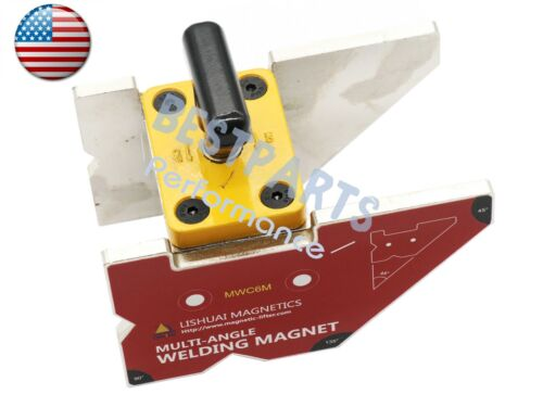 Top Quality Multi-angle 45°//90°//135° Magnetic Welding Clamp 265lbs with switch