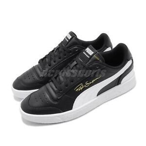 Puma-Ralph-Sampson-Lo-Black-White-Mens-Casual-Shoes-Sneakers-370846-01