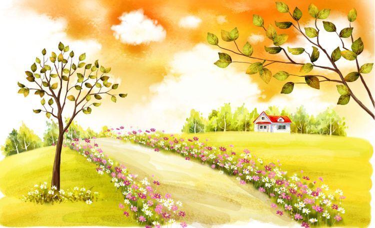 3D Autumn road 623 WallPaper Murals Wall Print Decal Wall Deco AJ WALLPAPER