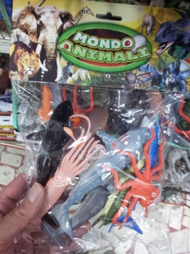 kit gioco animali piccoli pesci squalo mare animal toy giocattolo plastica