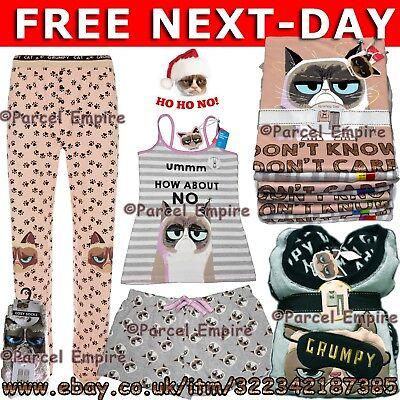 Sensibile Free-day Donna Next Al Grumpy Cat Pigiama Canotta Leggings Calze Pj Cami Set Pantaloncini-mostra Il Titolo Originale
