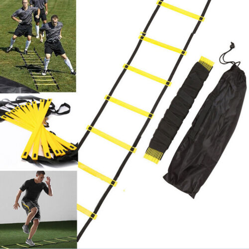 6-rung Agility Ladder for Soccer Football Speed Fitness Feet Training bag+3 do