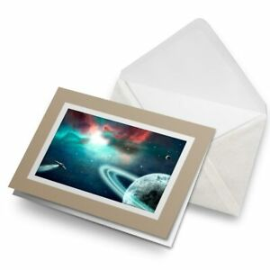 Greetings-Card-Biege-Spaceship-Space-NASA-Saturn-Sci-Fi-24037