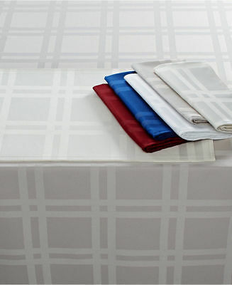 Martha Stewart Collection Skylight Plaid Set of 4 Microfiber Napkins 19in x 19in 2 sets of 2 Color Grey
