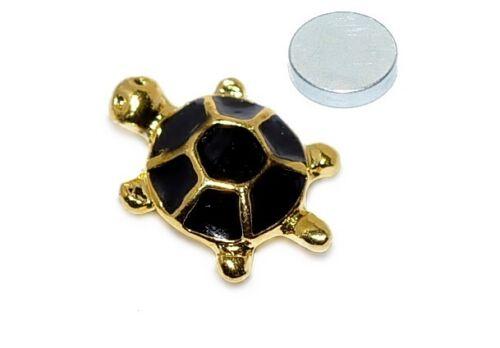 Magnet tortuga pendientes aretes piercing imán joyas idea de regalo x-53