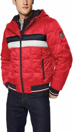 NWT Men/'s TOMMY HILFIGER QUILTED COLORBLOCK PUFFER JACKET size XL 50/% off msrp
