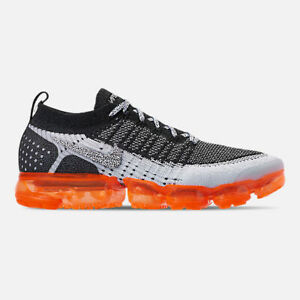 official photos f67ae d9b5a Details about AUTHENTIC NIKE AIR VAPORMAX FLYKNIT 2 Mango Blk Total Orange  Wolf Grey Men size