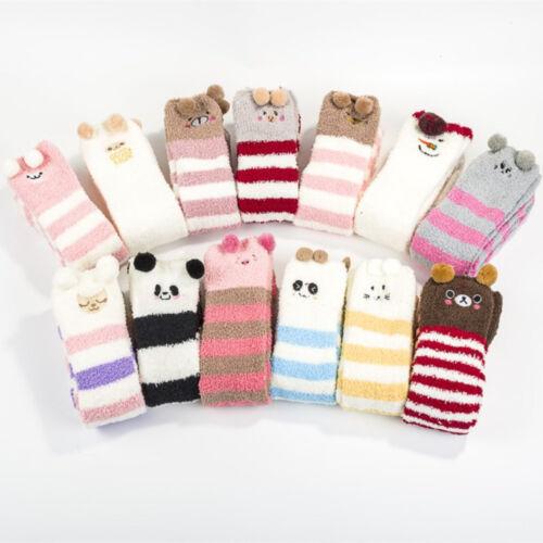 Lovely Novelty Over Knee Fluffy Animal Socks Warm Soft Cosy Gift Bed Socks IN9