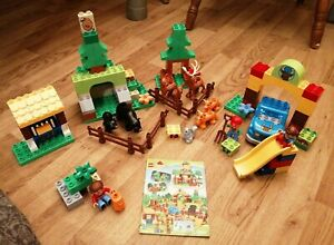 RARE-LEGO-DUPLO-10584-Forest-Park-Lovely-complet-avec-instructions-retraite