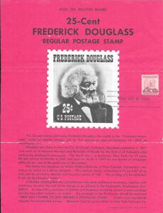 1290-25c-Frederick-Douglas-Stamp-Poster-Unofficial-Souvenir-Page-Folded-HC