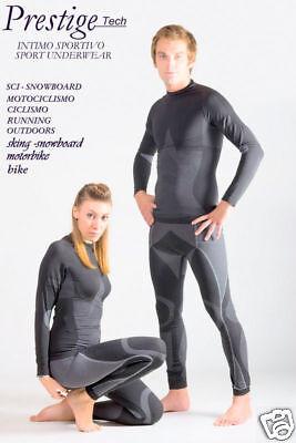Ordinato Completo Microfibra Dryarn° Tshirt Man.lunga+panta Xs/thermal Clothing Rafforza Tendini E Ossa