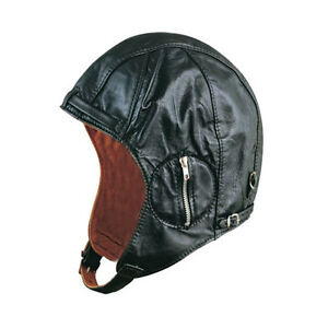 a3d5856f2cf375 Genuine Leather Aviator Hat - Men's - Suede Lining - Motorcycle ...