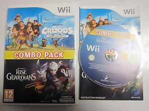 THE-CROODS-PREHISTORIC-PARTY-amp-RISE-OF-THE-GUARDIANS-COMBO-PACK-WII-NINTENDO