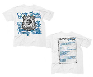 CHEAP-TRICK-T-Shirt-Dream-Police-Logos-w-Lyrics-Back-New-Authentic-S-2XL