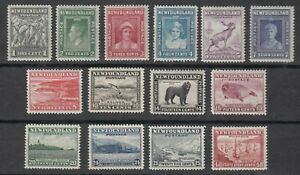 Newfoundland-No-253-266-Mint-Never-Hinged-Very-Fine-Set