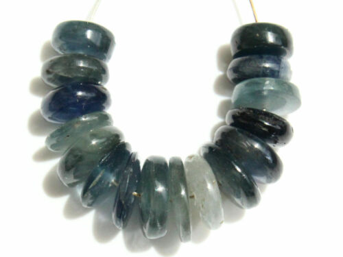 Natural Blue Sapphire Smooth Rondelle Gemstone Beads 26095