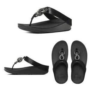 938eced497bb FitFlop Superchain Leather Toe-Post Women s Sandals RRP £85
