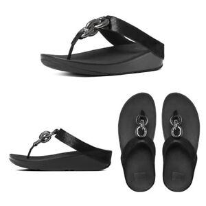 5be0493d5da FitFlop Superchain Leather Toe-Post Women s Sandals RRP £85