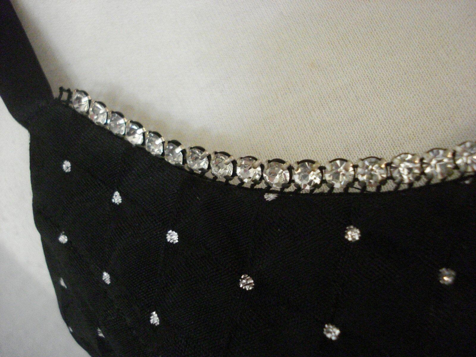 Gunne Sax Black Formal Evening Wear Dress Rhinest… - image 2