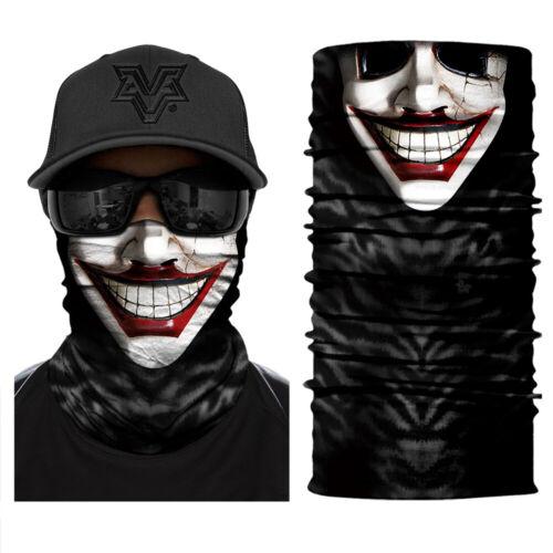 V for Vendetta Halloween 3D Face Mask Sun Shield Neck Gaiter Bandana UV Headband
