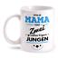 Stolze Mama 2 Jungen Tasse Spruch Geschenk Idee Geburtstag Muttertag Geburt Sohn