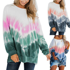 Womens-Tie-Dye-Printed-Oversized-Pullover-Sweatshirts-Causal-Hoodies-Tops-Shirts
