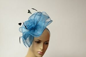 541301cd32ebe Image is loading 2019-New-High-Quality-Kentucky-Derby-sinamay-fascinator