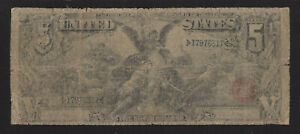 $5.00 1896 Silver Certificate, Educational Banknote, FR# 269, VG, Affordable!