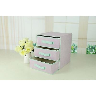Multi Drawer Storage Cabinet Organizer Box with 3 Removable Layers Drawers
