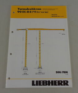 Data Sheet Liebherr Tower Crane 90 Ec-B 6 Fr.tronic From 03/2006
