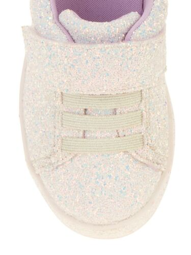 Wonder Nation Unicorn Sparkle Glitter Girls No Tie Shoes Sneakers 7 9 10 11 NEW