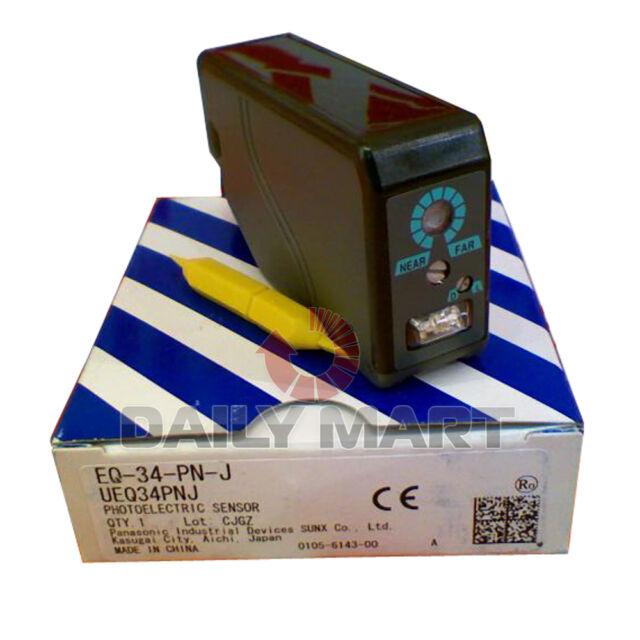 PANASONIC SUNX EQ-34-PN-J EQ34PNJ REFLECTIVE PHOTOELECTRIC SENSOR NEW