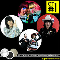 Mighty Boosh Set Of 4 Buttons Or Magnets Or Mirrors Noel Fielding Pinback 1200