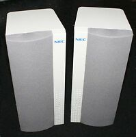 Pair Of Nec 30w Desktop 8 Ohm Speakers (20v008)