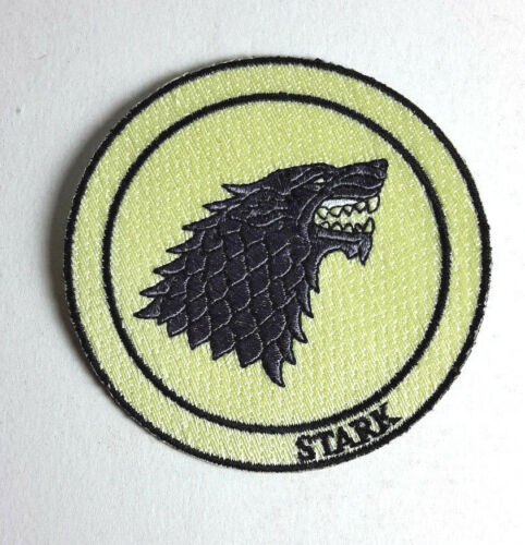 """Game of Thrones- STARK House Wolf Patch- 3"""" Deluxe- FREE S&H (GTPA-002-Cream)"""