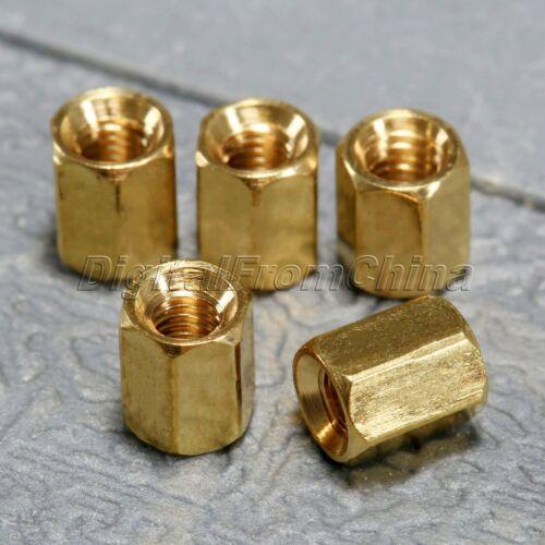 50Pcs Brass Hexagonal Female Nut  M3 x 4//5//6//8//10//12mm PCB Board Standoff Spacer