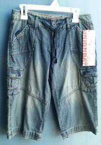 Big-Girls-shorts-size-10-Reg-Union-Bay-denim-cargo-jean-short-summer-bottoms