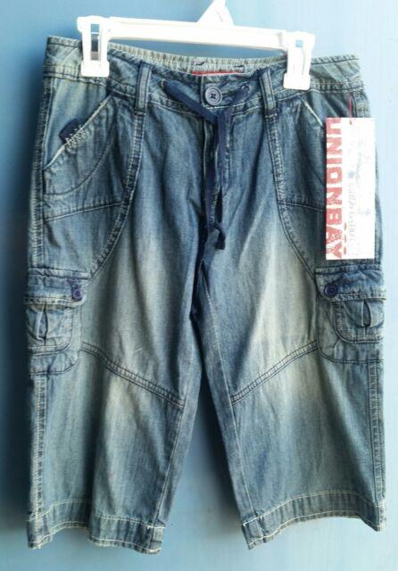 Big Girls shorts size 12 Reg Union Bay denim cargo jean short summer bottoms
