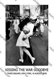 times square victory kiss 1945 kiss war goodbye vintage wall art