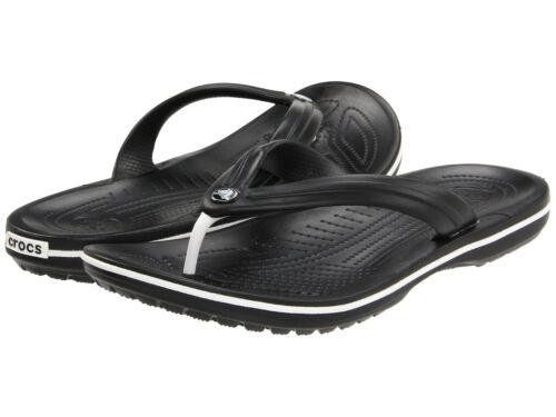 Men Crocs Crocband Flip Flop Sandal 11033-001 Black 100/% Original Brand New