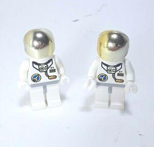 Lego Minifigure Space Futuron Astronaut Yellow White Blue Visor