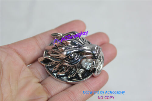 Final fantasy VII Cloud wolf Pin wolf head pin cosplay costume/'s pin accessory