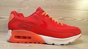 official photos eb74e 78210 Details about Nike Air Max 90 Ultra Essential Red Mango Fashion Sneakers  724981-602 Sz 9.5
