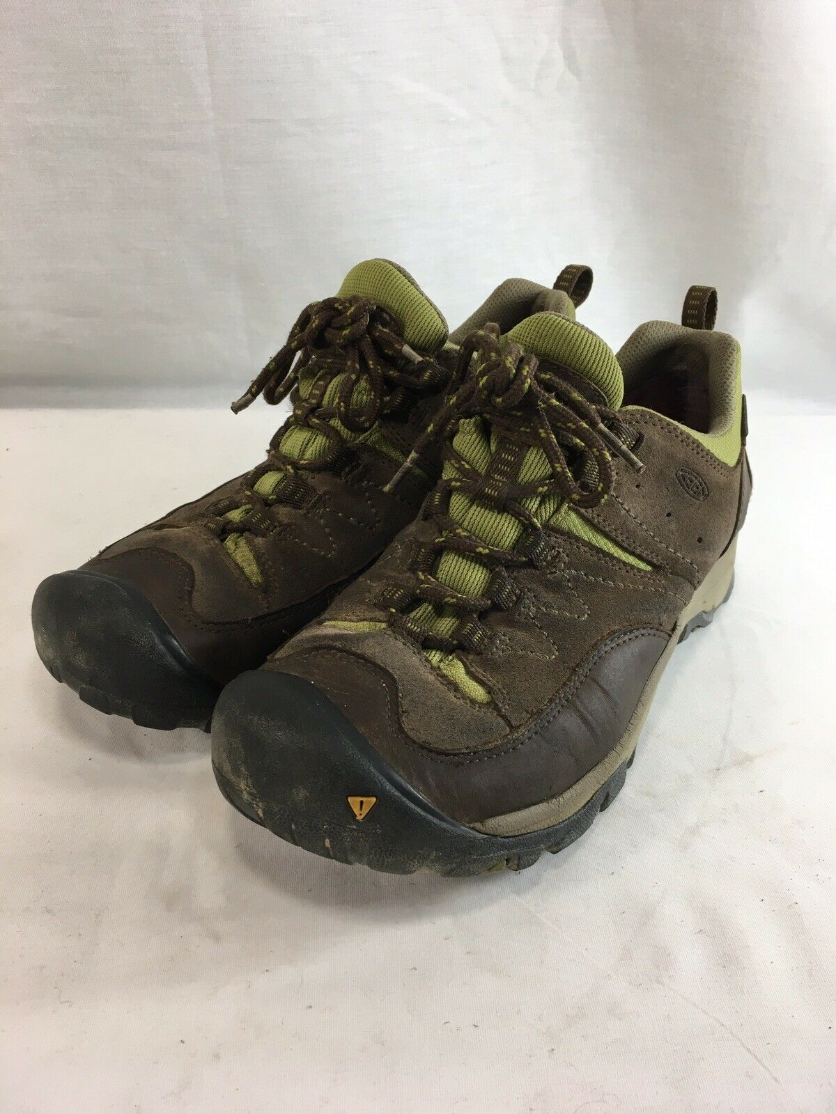 Keen  Hiking Boots Trail Sneakers Womens 10 Brown Leather Green Fabric Keen Dry  we offer various famous brand