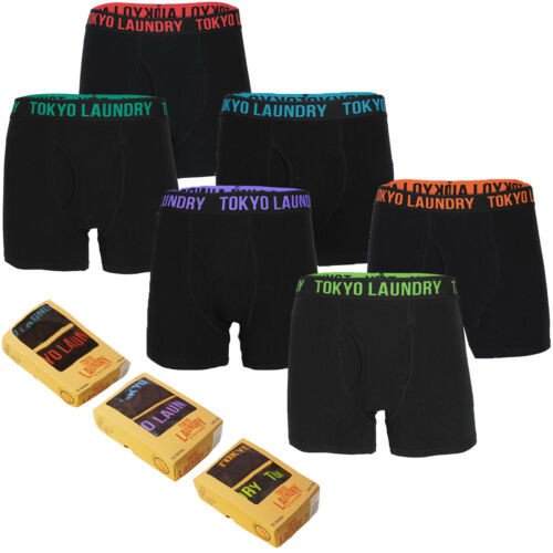 Tokyo Laundry Da Uomo Haydon Designer Elasticizzato Boxer confezione da 2 Box Set BAULI