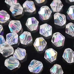 50pcs-6mm-Bicone-Faceted-Crystal-Glass-Charms-Loose-Spacer-Beads-Finding-Half-AB