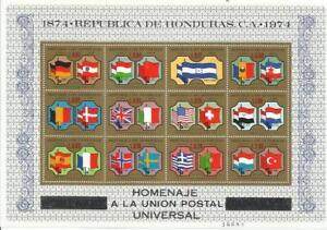 HONDURAS-Ano-1975-Tema-CENTENARIO-DE-LA-U-P-U
