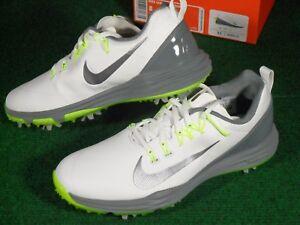 344842d2e54db New Mens Nike Lunar Command 2 Lunarlon Golf Shoes White Cool Grey ...