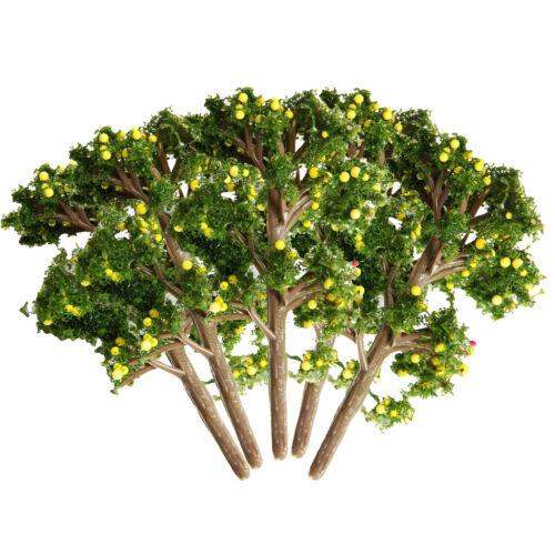 MagiDeal 5Pc Modell Obstbäume Eisenbahn Landschaft Pflanze DIY Zubehör