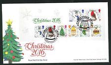 2016-Christmas Mini S FDC Puddington, Tiverton Postmark-Sent Post Free